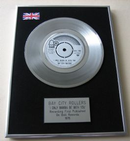 BAY CITY ROLLERS - I ONLY WANNA BE WITH YOU Platinum Single presentation Disc